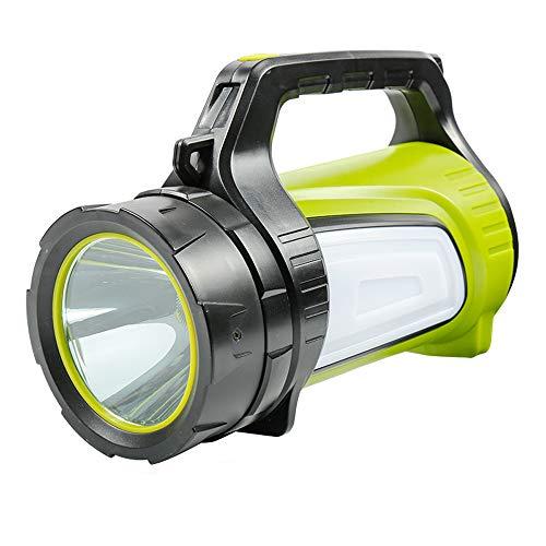 YYBT Super Lumineux LED Searchlight USB Rechargeable projecteur de Plein air Lampe de Poche Portable Multi-Fonction de Camping FLASHL Ight Lamp Lampe Longue portée USB Mobile Power,Green