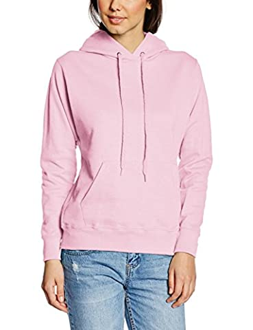Fruit of the Loom Damen Kapuzenpullover SS068M, Rosa-Pink (Light Pink), 38