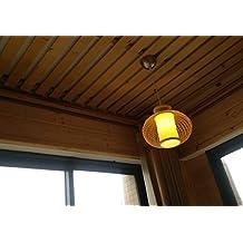 Iluminación Pastoral creativa Restaurante Bar luz del dormitorio lámpara de cabecera Recibidor Hall ( Color : Natural )