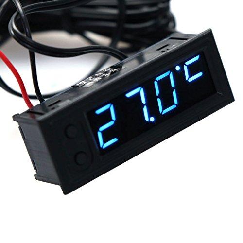 lailongp DIY - Orologio multifunzione per auto, temperatura e tensione della batteria, voltmetro DC 12 V