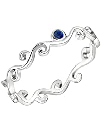 Jo for Girls Sterling Silver Swirl Stacking Ring - Size I