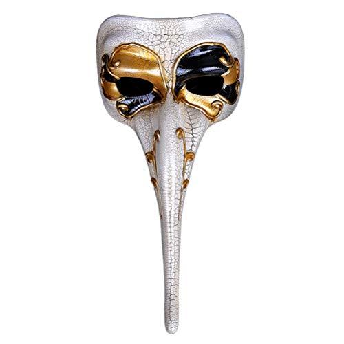Zhuhaijq Neuheit Unisex Maskerade Maske - Lange Nase Cracked Venezianische Masken Halloween Kostüm Karnevals Gesichtsmaske