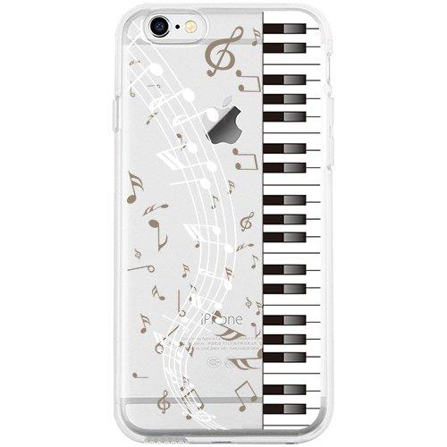 iPhone 6S Plus Hülle, TrendyBox Weiche TPU Ränder mit hartem PC Rückdeckel Schutzhülle Hülle für iPhone 6 Plus und iPhone 6S Plus (Klavier)