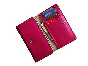 ATV PU Leather PINK Designer Flip Pouch Case Cover For Motorola DROID X