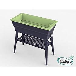 MV INDUSTRIE Jardinière Calipso Maxi 40L Gris/Tilleul, 3557400025265, gris tilleul, 81x39x80 cm, , PV 002 526