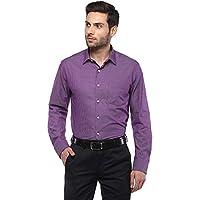Arrow Men's Checkered Regular Fit Formal Shirt, Large, Medium Pink