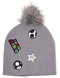 Super Mario Bonnet Patches Logo Bobble Nouveau Officiel Nintendo Gris 7678ff9ed38