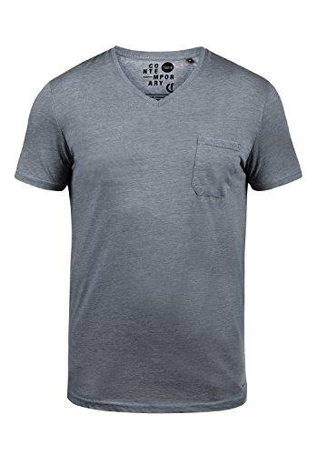 V-ausschnitt Baseball Tee (SOLID Theon T-Shirt, Größe:M;Farbe:Insignia Blue (1991))