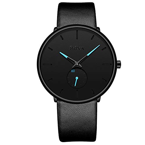 Men ' S Faux Leather Watch Minimalist Waterproof Analog Quarz Watch Imitation Leather - Verpacktes Geschenk Kostüm