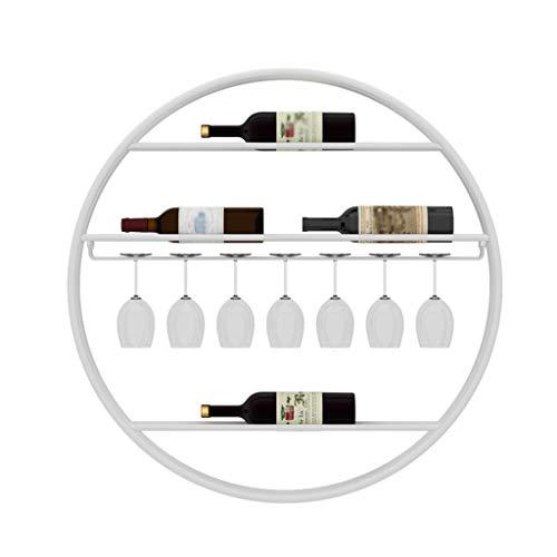 Haushalts-Rotwein-Becherhalter Weinregal zur Wandmontage Kreativer Weinglashalter An Der Wand Weinregal Weinständer Hoher Getränkehalter rund -