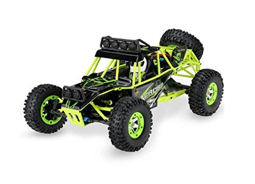 Ferngesteuerte Autos Geländewagen Amphibienwasserdichte Stunt 2,4 GHz 1:12 RC Monster Truck bis zu 50MPH High Speed Buggy Elektro 4 Radantrieb Klettern LKW Spielzeug für Jungen und Mädchen-grün - Mädchen, Monster-lkw-spielzeug