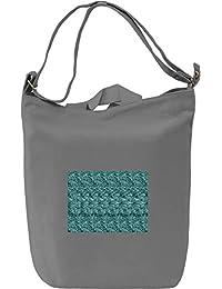 Dolphin Stereogram Bolsa de mano Día Canvas Day Bag| 100% Premium Cotton Canvas| DTG Printing|