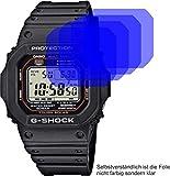 4X Crystal Clear klar Schutzfolie für Casio G-Shock Displayschutzfolie Bildschirmschutzfolie Schutzhülle Displayschutz Displayfolie Folie