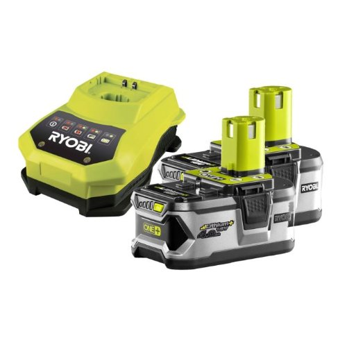 Ryobi-Confezione caricabatterie RBC18LL40 1 h 2 batterie Lítio-Ion 18 V 4,0Ah