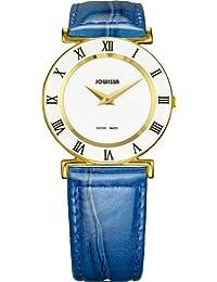 Jowissa J2.102.M - Reloj analógico de cuarzo para mujer con correa de piel, color azul