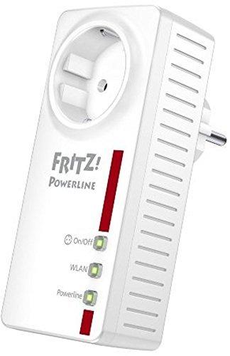 AVM Fritz!Powerline 546E (500 MBit/s, WLAN-Access Point, Fast-Ethernet-LAN, schaltbare Steckdose) (Zertifiziert und Generalüberholt)