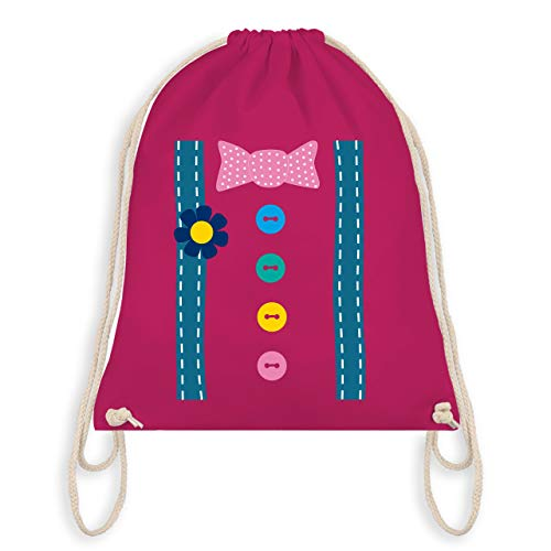 Karneval & Fasching - Clown Kostüm - Unisize - Fuchsia - WM110 - Turnbeutel & Gym Bag