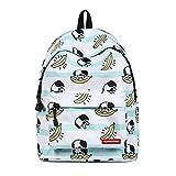 ZHRUI Novel Light School Bag Zaino con stampa animalier per laptop
