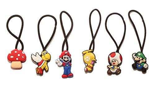 AVIRGO 6 St / Elastic Hair Bands Hairbands Haargummi Set # 68 - 5 (Mario Brothers Dekorationen)