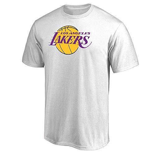 T-Shirt NBA Los Angeles Lakers Basketball Fans Männer Jugend bequemes Hemd S-3XL Weiß, M - Die Jugend Weiß Basketball T-shirt