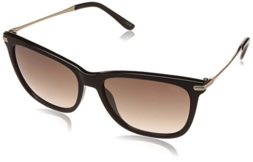 IDEE Mirrored Square Unisex Sunglasses - (IDS2266C1SG|56|Grey With Gold Mirror Color)