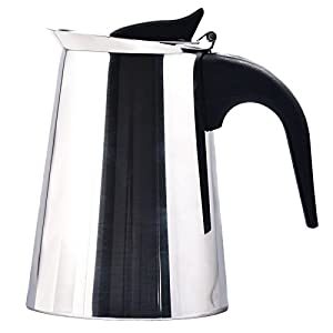 4/6/9-Cup Coffee Pot Espresso Coffee Maker-Stovetop Espresso Maker/Italian Moka Coffee Pot-Stainless Steel Coffee Cup Percolator Stove top with Permanent Filter and Heat Resistant Handle