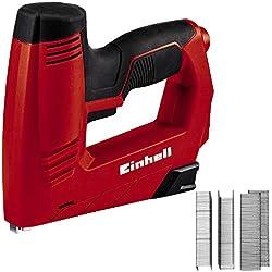 Einhell TC-EN 20 E Grapadora Electrica Potencia, 240 V, 00 disparos por minuto, longitud de grapa 6-14 mm, longitud de clavo 14 mm, incluidas 1000 grapas y 500 clavos (ref. 4257890)