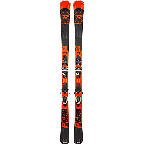 Rossignol Herren Ski Pursuit 600 Cam + Bindungen Nx12 Konnect Dual, Schwarz M Schwarz -
