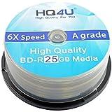 HQ4U Blu-ray BD-R espacios en blanco, 6 x velocidad, 25 GB de almacenamiento negro 100er Spindel