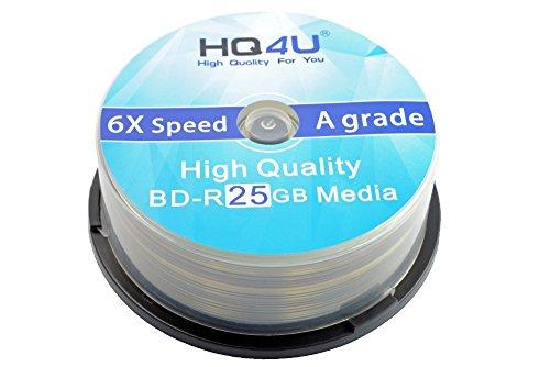 HQ4U Blu-Ray BD-R Rohlinge, 6x Speed, 25GB Speicherplatz (50er Spindel)