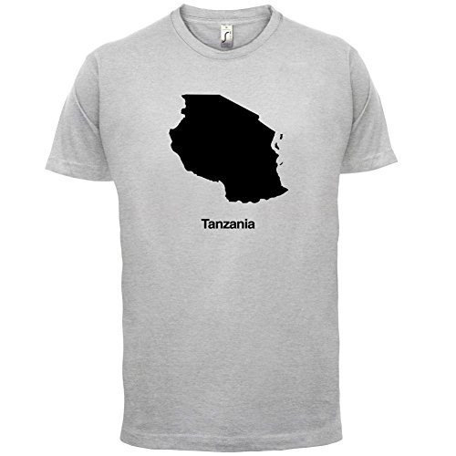 Tanzania / Tansania, Vereinigte Republik Silhouette - Herren T-Shirt - 13 Farben Hellgrau