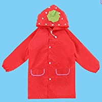 QKKER Fashion Cartoon Poncho Style Boy Kids Rain coat Water proof Suit Animal