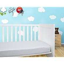 Savel, Proteggi Materasso per lettino bambini in spugna 100% cotone, impermeabile e traspirante con trattamento antiacari - 60x120cm