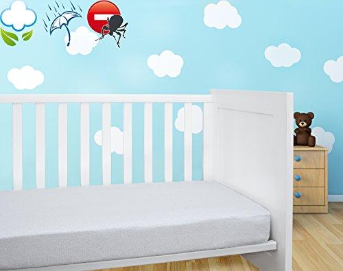 Savel, Coprimaterasso / Proteggi Materasso per lettino bambini imbottito in spugna 100{7ebb3848fd42613d7a7be5f573fc0f8abd75b2d46e345a1453af27e89dc1fc62} cotone, impermeabile e traspirante con trattamento antiacari - 70x140cm