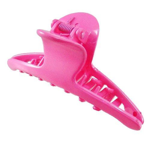 K127 – 002 – Pince pour cheveux PVC cm 9,5 – Pinces pour Cheveux rose