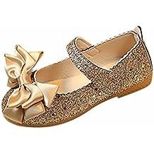 Zapatos Niña,Zapatos de baile niña Zapatos de cuero de moda Princesa Bowknot ...