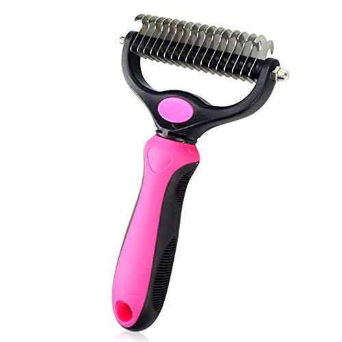 Alivier PET Brush Deluxe PET Kamm Double Open Knot Messer Rake Edelstahl Katze und Hund Haarpflege Werkzeuge Deluxe Messer