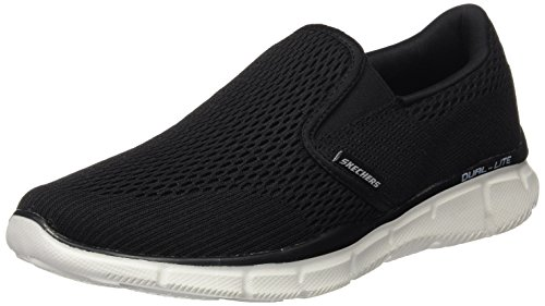 Skechers Herren Equalizer - Double Play Mokassin Schwarz (Black/White) 44 EU