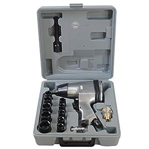 CCLIFE 1/2″ Druckluft Schlagschrauber Druckluftschrauber Schrauber Werkzeug mit Zubehör