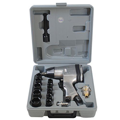 """CCLIFE 1/2\"""" Druckluft Schlagschrauber Druckluftschrauber Schrauber Werkzeug mit Zubehör"""