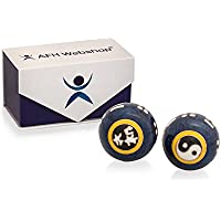 Preisvergleich für Meditation Qi-Gong-Kugeln mit Klangwerk | Klangkugeln | Yin Yang | Design Yin Yang blau | verschiedene Durchmesser...