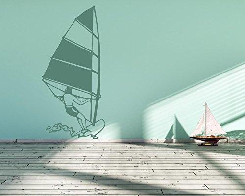 Wandtattoo 72447-58x122cm, ~ Surfen, Surfer, Surboard, Windsurfen ~ Wandaufkleber, Aufkleber für die Wand, Tapetensticker aus Markenfolie, 32 Farben wählbar
