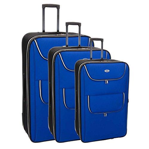 Set de 3 valises chariot phuket bleu