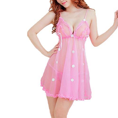 LSTC Sexy Dessous Cosplay Dessous Erotische Kleidung Sex Produkte Frauen Bodysuits Erotische Unterwäsche Nachthemd Frauen Bademantel Sex-Set pink (Valentinstag-kleidung Für Frauen)