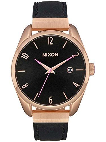 Nixon Unisex Erwachsene Analog Quarz Uhr mit Leder Armband A1185-1098-00