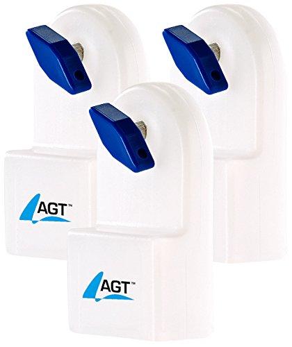 AGT Heizung Entlüfter: Manueller Heizkörper-Entlüfter m. integriertem Wasserbehälter, 3er-Set (Heizkörperentlüfter manuell)