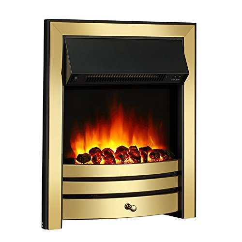 41hYQtnmJwL. SS500  - Endeavour Fires Roxby Inset Electric Fire, Brass Trim and Fret, 220/240Vac 1&2kW, 7 day Programmable Remote control