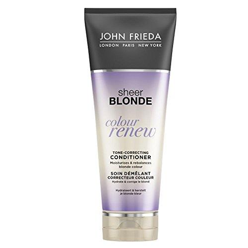 JOHN FRIEDA Sheer Blonde Soin Démêlant Correcteur Couleur Colour Renew 250 ml - Lot de 4