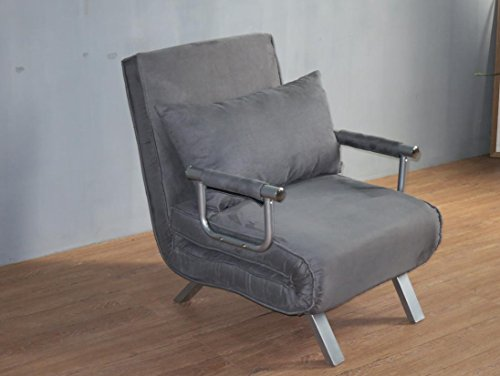Italfrom divano letto sofa bed grigio 67x69x83h divanetti divano letto 1 piazza - cod.4034, metallo