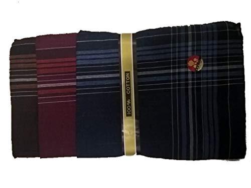 Preisvergleich Produktbild amara-global 12 Herren-Taschentücher 38 x 38 cm 100% Baumwolle Stofftaschentücher Taschentuch